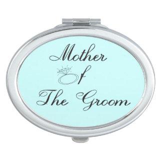 Madre del espejo del acuerdo del novio espejos compactos