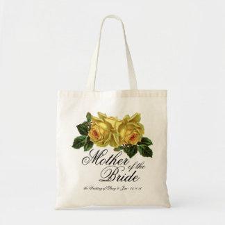 Madre del favor floral del boda del tote de la nov bolsa tela barata