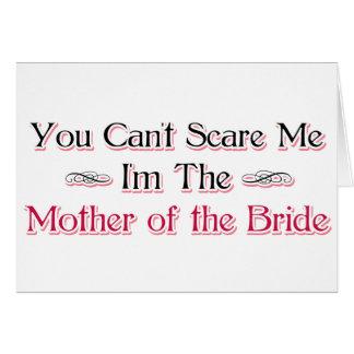 Madre del humor de la novia tarjetón