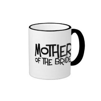 Madre del inconformista de la novia taza de café
