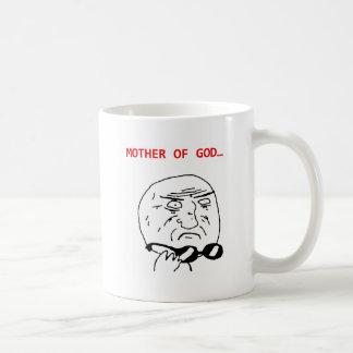 madre del meme de dios taza de café