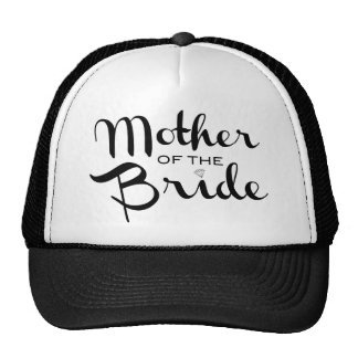 Madre del negro retro de la escritura de la novia gorra