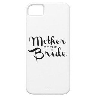 Madre del negro retro de la escritura de la novia iPhone 5 fundas
