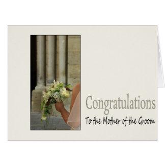 madre del novio Congratuations Tarjeta De Felicitación Grande