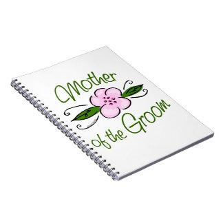 Madre del novio spiral notebooks