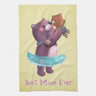 Madre del oso de peluche toallas