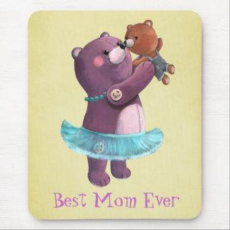 Madre del oso de peluche tapetes de ratones