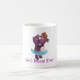 Madre del oso de peluche tazas de café