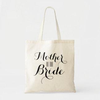 Madre del personalizado de la novia bolsa tela barata