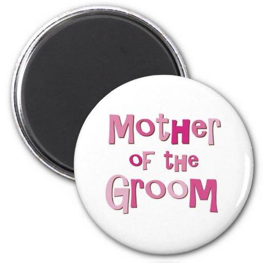 Madre del rosa Brown del novio Imán Para Frigorífico
