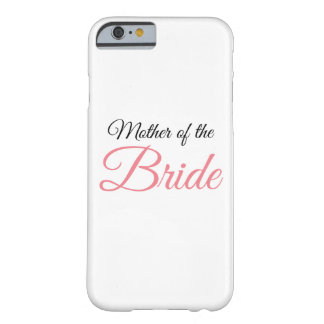 Madre del rosa de la escritura de la novia funda barely there iPhone 6
