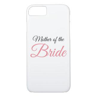 Madre del rosa de la escritura de la novia funda iPhone 7