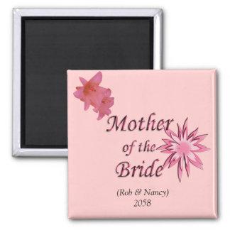 Madre del rosa de la novia iman para frigorífico