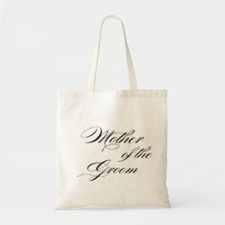 Madre del tote del regalo de boda del novio bolsa tela barata