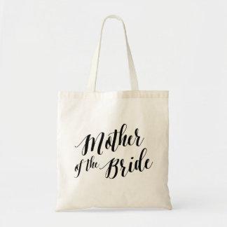 Madre del tote el | de la escritura de la novia bolsa tela barata