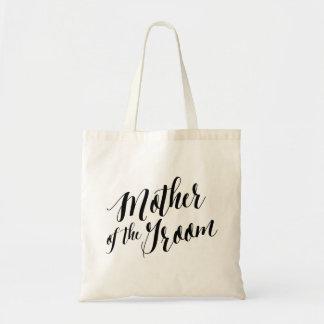 Madre del tote el | de la escritura del novio bolsa tela barata