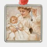 Madre del Victorian con la tarjeta del día de Ornaments Para Arbol De Navidad