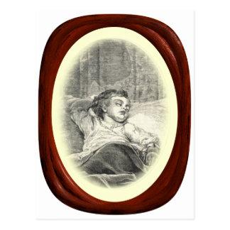 Madre del Victorian que vigila niño Postal