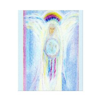 Madre Dreamcatcher del arco iris Impresion De Lienzo