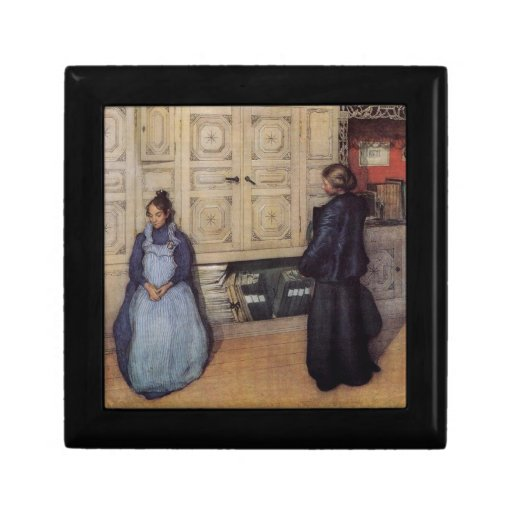 Madre e hija 1903 joyero cuadrado pequeño