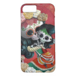 Madre e hija de Dia de Los Muertos Skeletons Funda iPhone 7