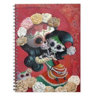Madre e hija de Dia de Los Muertos Skeletons Notebook
