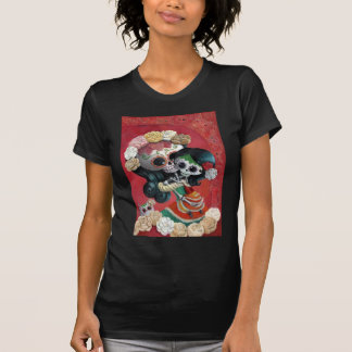 Madre e hija de Dia de Los Muertos Skeletons Camisetas