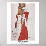 Madre e hija de Egon Schiele Posters