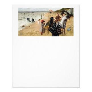 """Madre e hija del Victorian de la playa Folleto 4.5"""" X 5.6"""""""