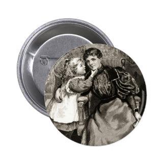 Madre e hija del vintage pin