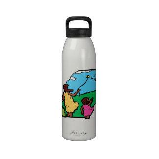 Madre e hija Kiting Botella De Agua Reutilizable