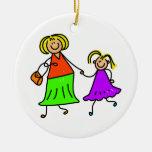 Madre e hija ornato