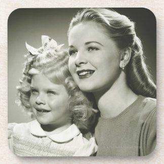 Madre e hija posavasos