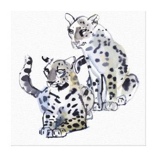 Madre e hijo impresión en lona estirada