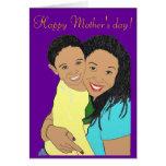 Madre e hijo tarjeta
