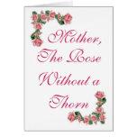 Madre, el color de rosa sin una espina tarjetas