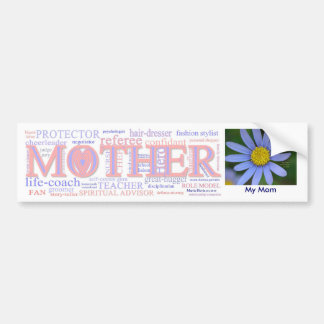 MADRE: El mucha papeles de una madre - personaliza Etiqueta De Parachoque