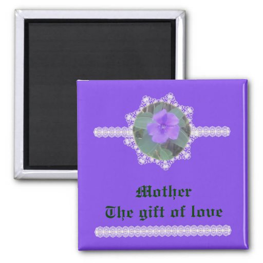 Madre - el regalo del amor imán de nevera