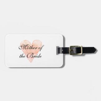 Madre elegante de la etiqueta del equipaje del etiqueta de maleta