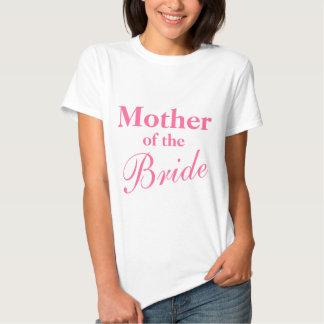 Madre elegante de las camisetas de la novia playeras