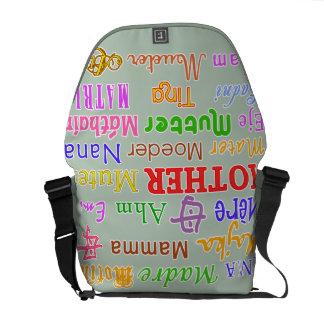 MADRE en bolso grande de muchas idiomas Bolsas Messenger