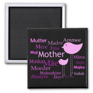 Madre en otros idiomas imán de nevera