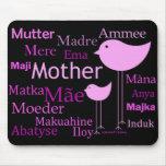 Madre en otros idiomas tapetes de raton
