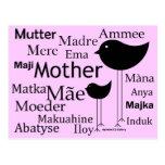 Madre en otros idiomas tarjetas postales