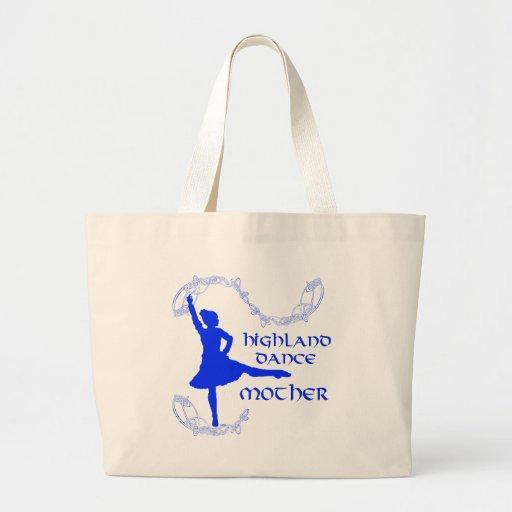 Madre escocesa de la danza de la montaña - azul bolsas de mano