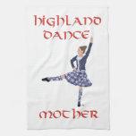 Madre escocesa de la danza de la montaña toalla de cocina
