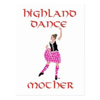 Madre escocesa de la danza de la montaña postal