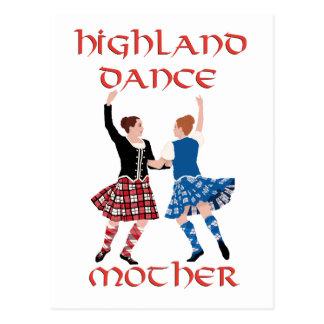 Madre escocesa de la danza de la montaña postales
