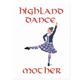 Madre escocesa de la danza de la montaña tarjeta postal