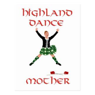 Madre escocesa de la danza de la montaña tarjetas postales